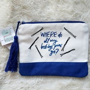 NWT Cute Blue Makeup Bag